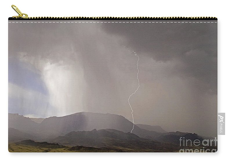 Lightning Carry-all Pouch featuring the photograph Jim Mountain Storm by J L Woody Wooden