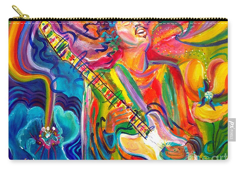 Autism Carry-all Pouch featuring the painting Jimi 2 by To-Tam Gerwe