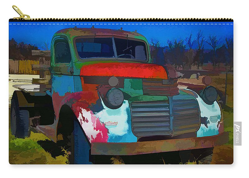 Gmc Carry-all Pouch featuring the photograph Jimmy In Taos - Abstract by Charles Muhle