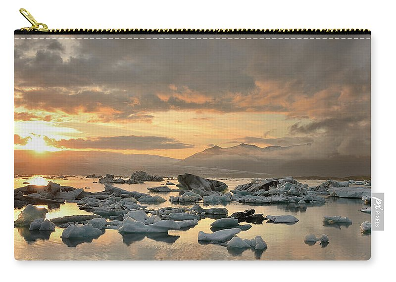 Scenics Carry-all Pouch featuring the photograph Jökulsárlón by Andreas Jones
