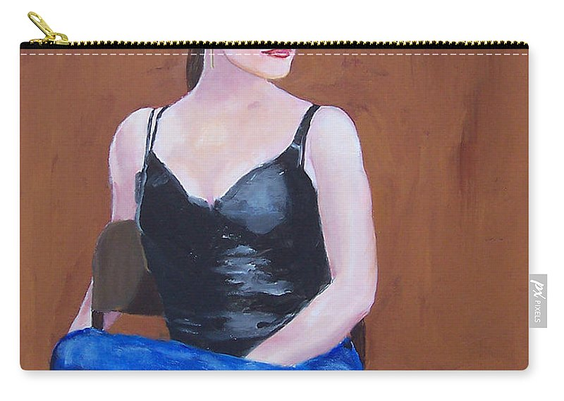 Lady Carry-all Pouch featuring the painting Jo In Chair by Scott Bowlinger
