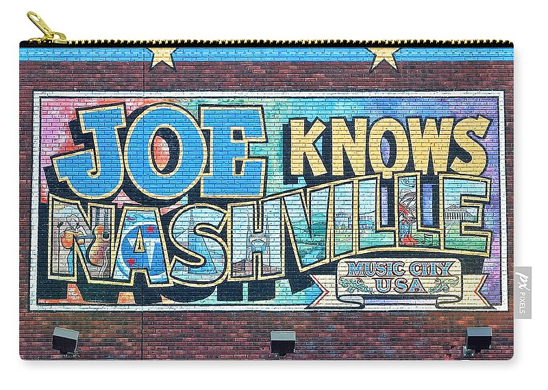 Nashville Carry-all Pouch featuring the photograph Joe Knows Nashville by Frozen in Time Fine Art Photography