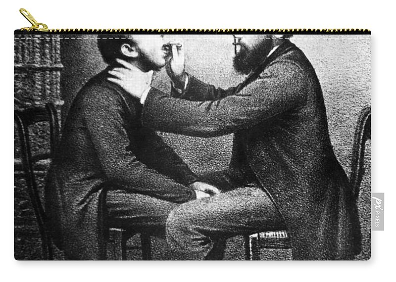 19th Century Carry-all Pouch featuring the photograph Johann Nepomuk Czermak (1828-1873) by Granger