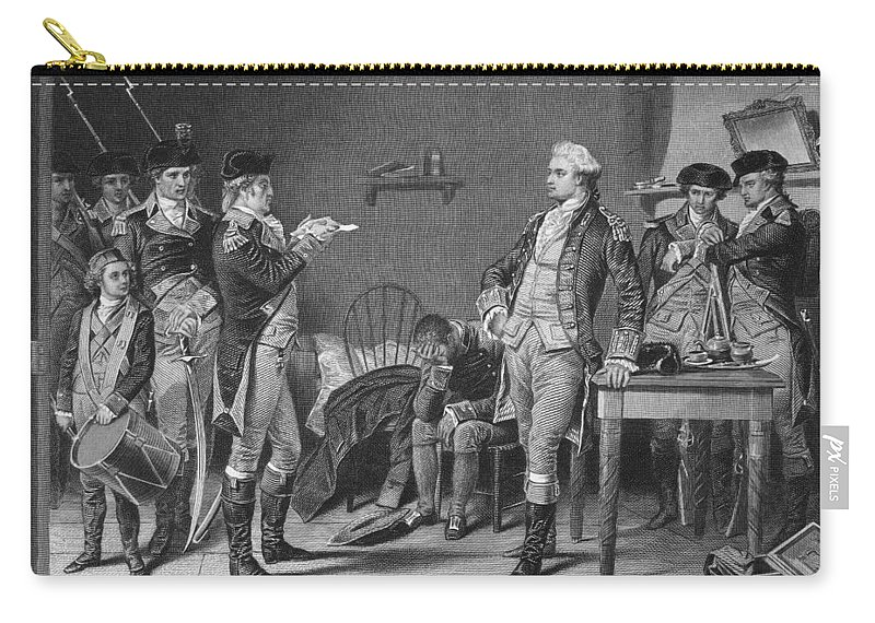 1780 Carry-all Pouch featuring the photograph John Andre (1751-1780) by Granger