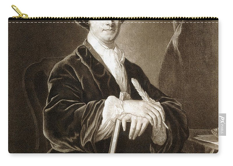 18th Century Carry-all Pouch featuring the photograph John Arbuthnot (1667-1735) by Granger