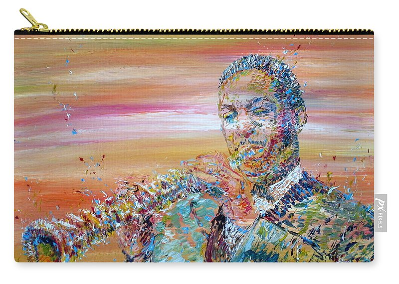 John Coltrane Carry-all Pouch featuring the painting John Coltrane by Fabrizio Cassetta