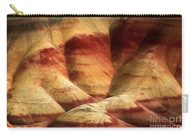 America Carry-all Pouch featuring the photograph John Day Martian Landscape by Inge Johnsson