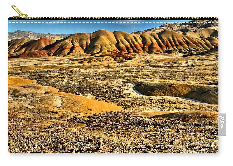 Painted Hills Carry-all Pouch featuring the photograph John Day Oregon Landscape by Adam Jewell