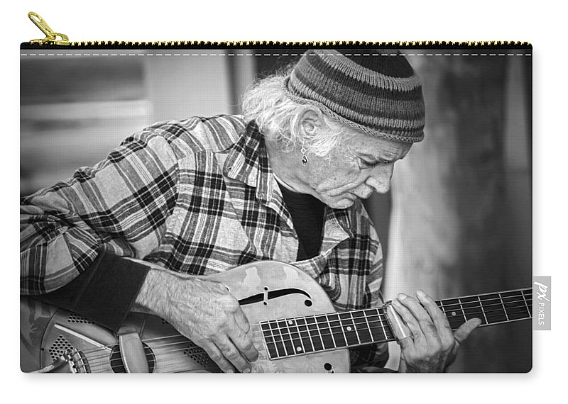 2d Carry-all Pouch featuring the photograph John Decker - Grayscale by Brian Wallace