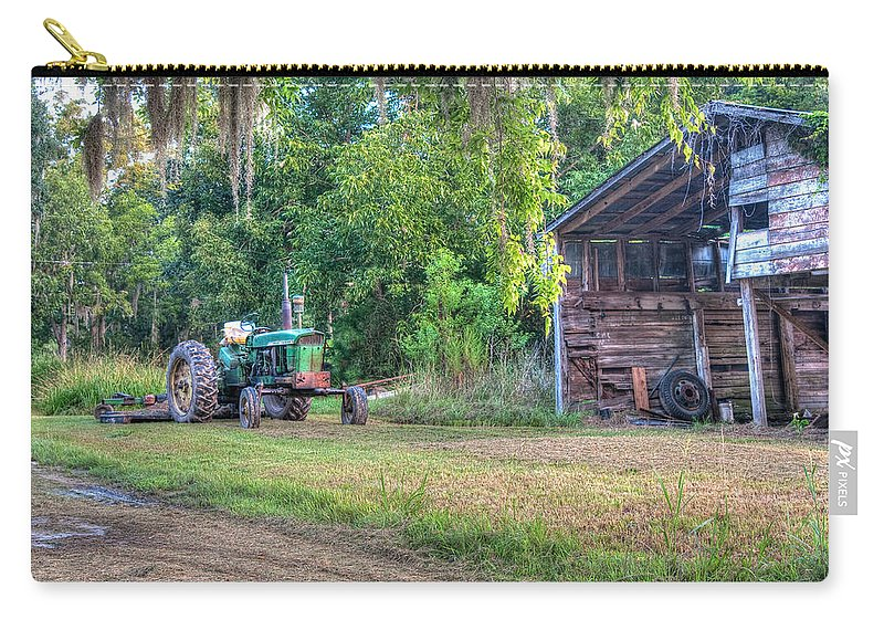 Lowcountry Carry-all Pouch featuring the photograph John Deere - Old Tractor Shed by Scott Hansen
