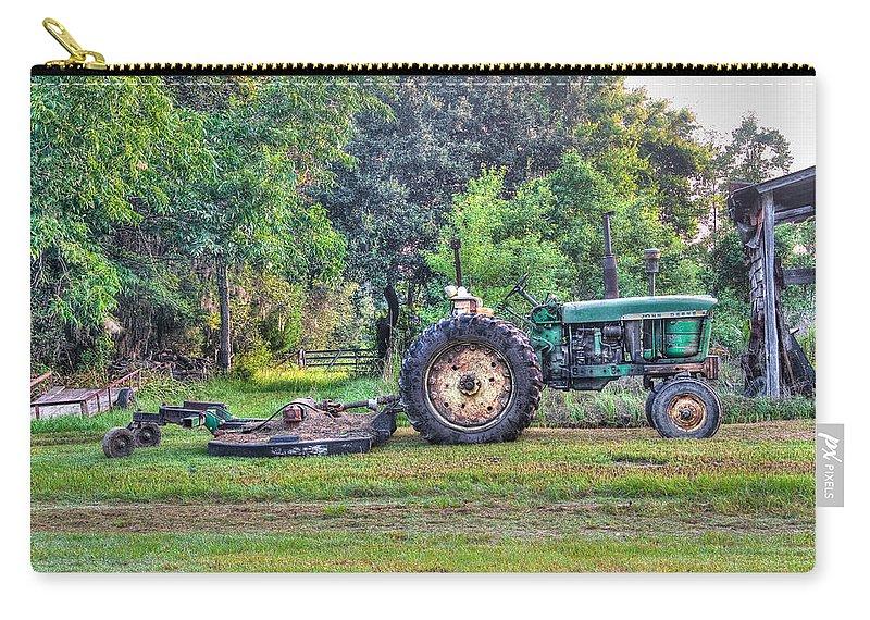 John Deere Carry-all Pouch featuring the photograph John Deere - Work Day by Scott Hansen