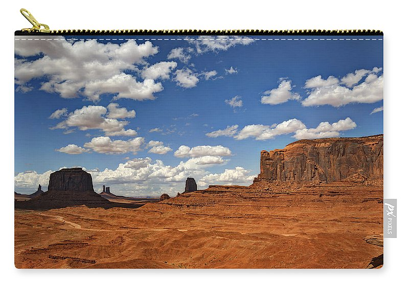 Monument Valley Carry-all Pouch featuring the photograph John Ford Point - Monument Valley by Saija Lehtonen