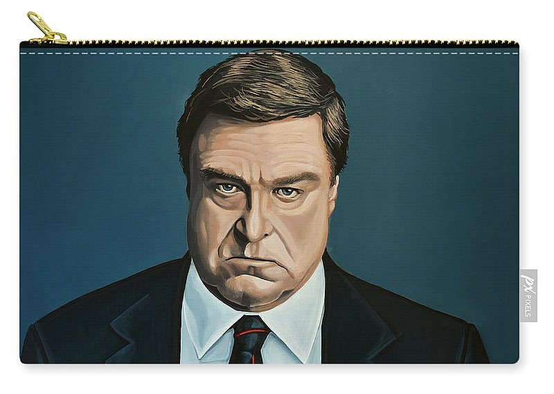 John Goodman Carry-all Pouch featuring the painting John Goodman by Paul Meijering