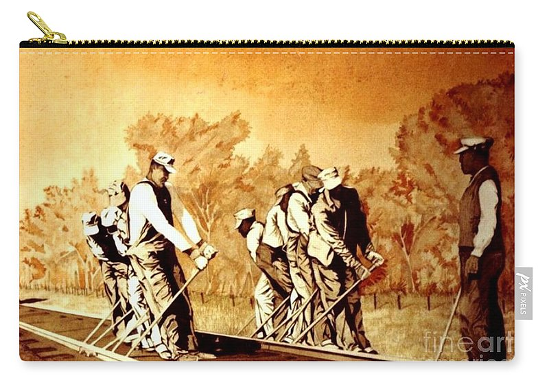 Watercolor Carry-all Pouch featuring the painting John Henry by JL Vaden
