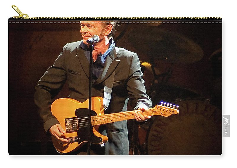 John Mellencamp Carry-all Pouch featuring the photograph John Mellencamp 437 by Timothy Bischoff