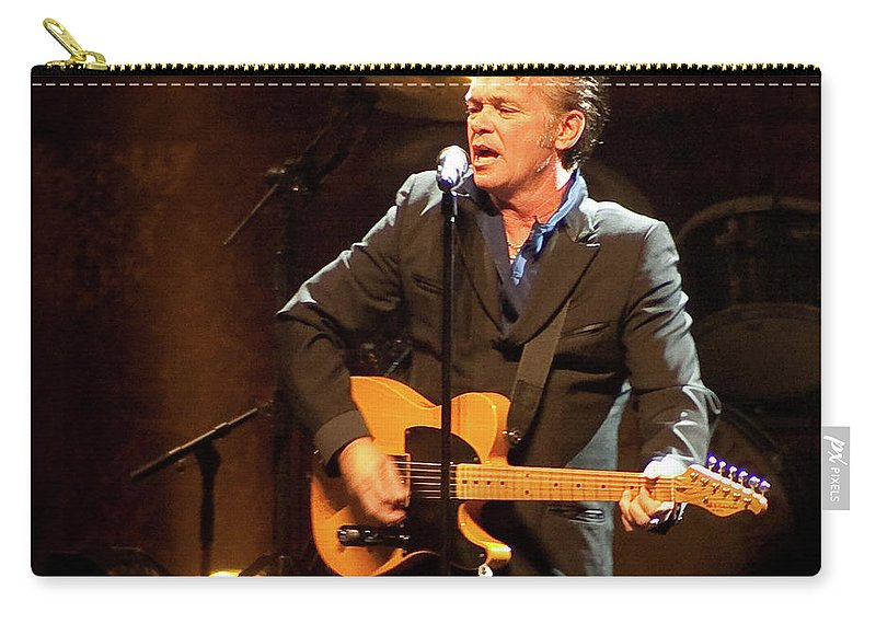 John Mellencamp Carry-all Pouch featuring the photograph John Mellencamp 464 by Timothy Bischoff