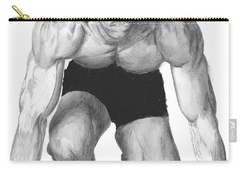 Michael Johnson Carry-all Pouch featuring the drawing Johnson by Tamir Barkan