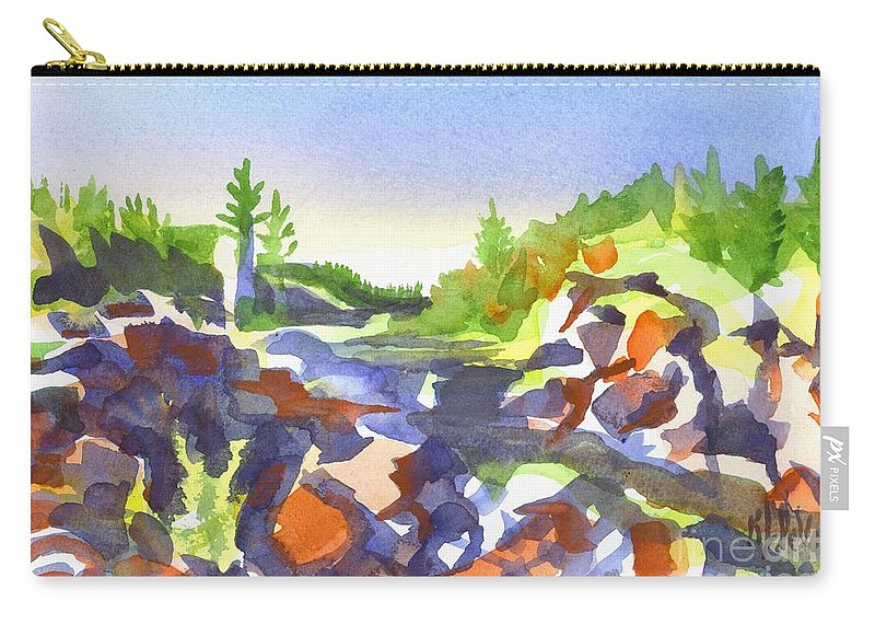 Johnsons Shut Ins Carry-all Pouch featuring the painting Johnsons Shut Ins by Kip DeVore