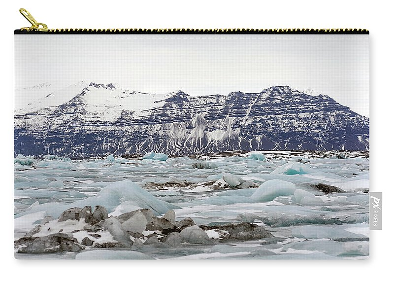 Tranquility Carry-all Pouch featuring the photograph Jokulsarlon by Photo By Dave Moore
