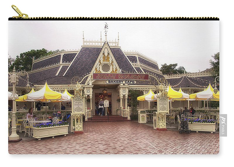 Disney Carry-all Pouch featuring the photograph Jolly Holiday Cafe Main Street Disneyland 02 by Thomas Woolworth