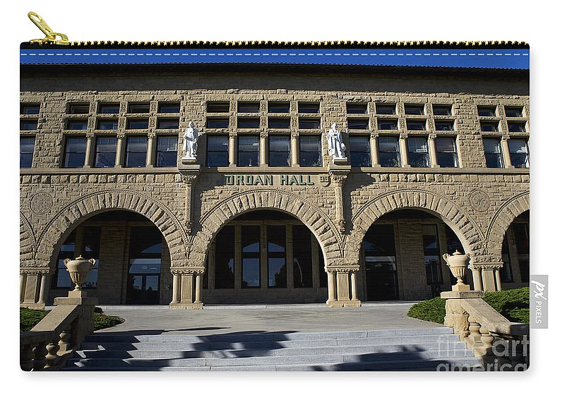 Jordan Hall Carry-all Pouch featuring the photograph Jordan Hall Stanford California by Jason O Watson