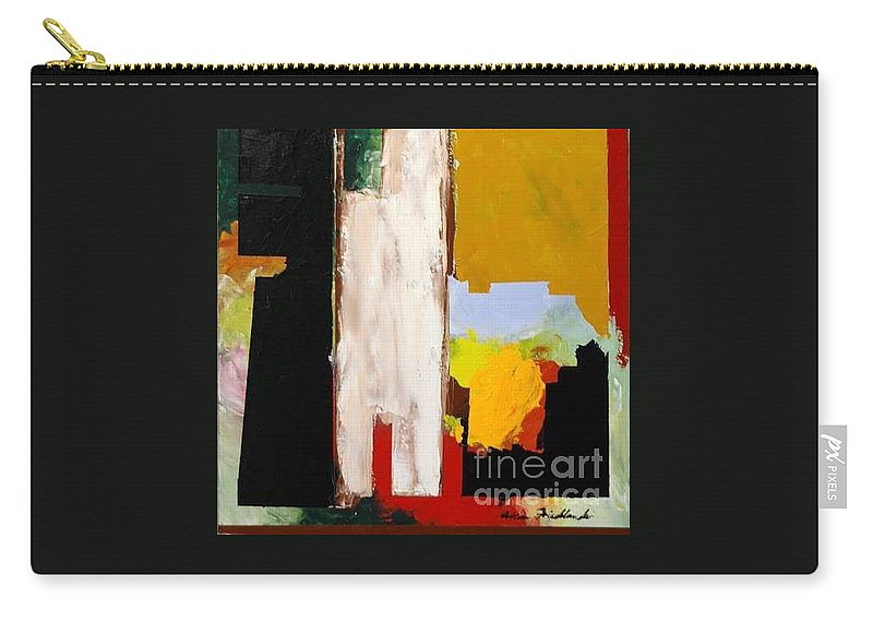 Landscape Carry-all Pouch featuring the painting Jordan Park 511 by Allan P Friedlander