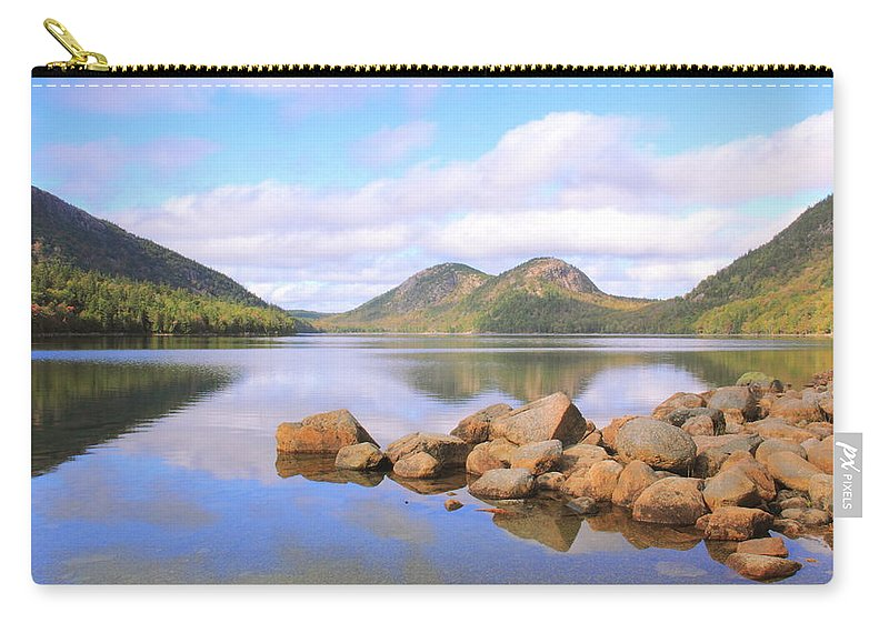 Jordan Pond Carry-all Pouch featuring the photograph Jordan Pond by Roupen Baker