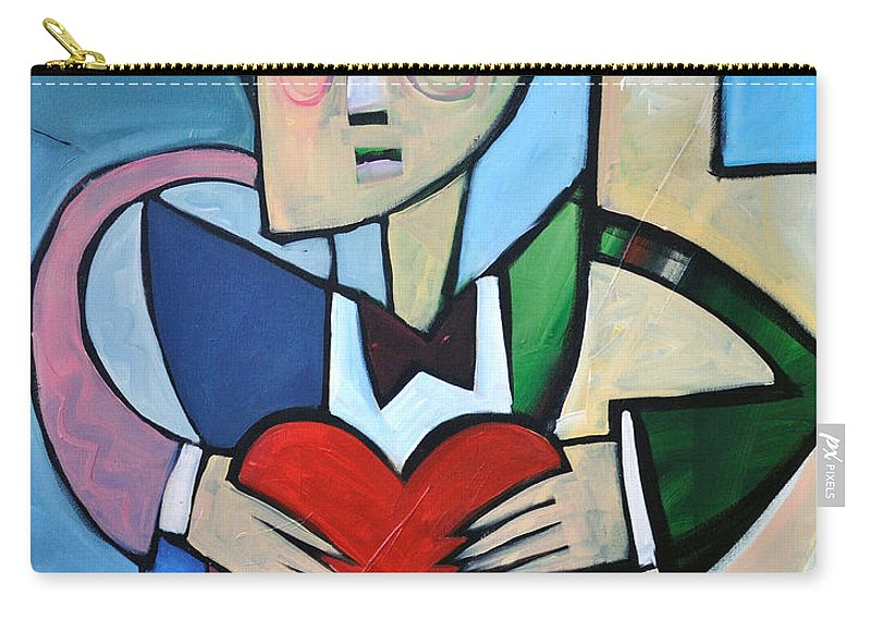 Heart Carry-all Pouch featuring the painting Joseph Came A Courtin by Tim Nyberg