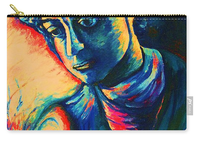 Joseph From The Bible Carry-all Pouch featuring the painting Joseph The Dreamer by Carole Spandau