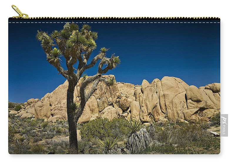 Art Carry-all Pouch featuring the photograph Joshua Tree In Joshua Tree National Park No. 323 by Randall Nyhof
