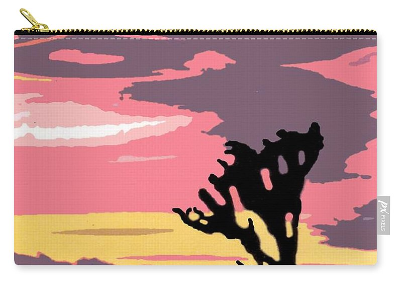 Vintage Carry-all Pouch featuring the photograph Joshua Tree National Park Vintage Poster by Eric Glaser