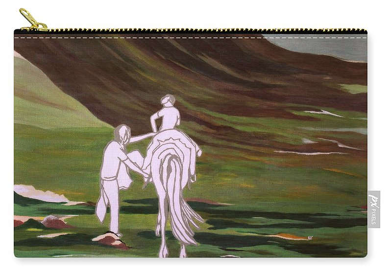 Mother Carry-all Pouch featuring the painting Journey Together by Vinita C