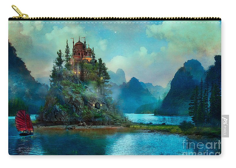 Aimee Stewart Carry-all Pouch featuring the digital art Journeys End by MGL Meiklejohn Graphics Licensing