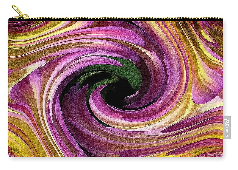 Dahlia Carry-all Pouch featuring the painting Jowey Gipsy Twirls by J McCombie