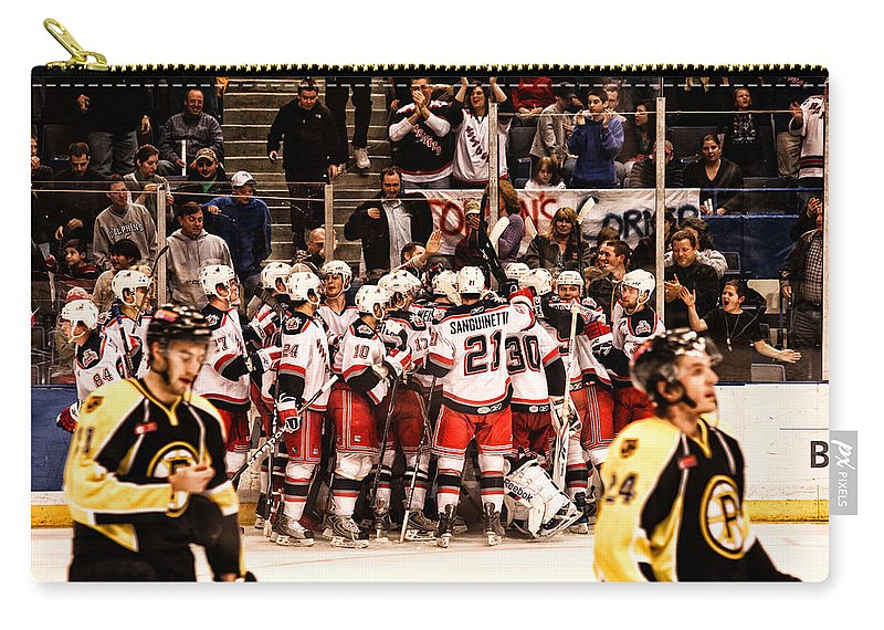 Sports Carry-all Pouch featuring the photograph Joy Of Victory Agony Of Defeat by Karol Livote
