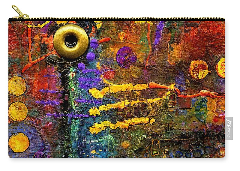 Acrylic Carry-all Pouch featuring the painting Joy To The World by Angela L Walker