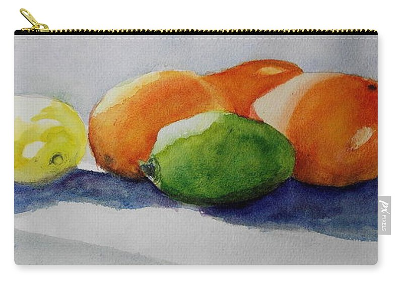 Juices Carry-all Pouch featuring the painting Juices by Nicole Curreri