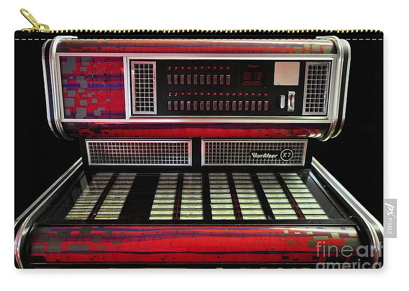 Jukebox - Wurlitzer X7 Carry-all Pouch featuring the photograph Jukebox - Wurlitzer X7 by Liane Wright