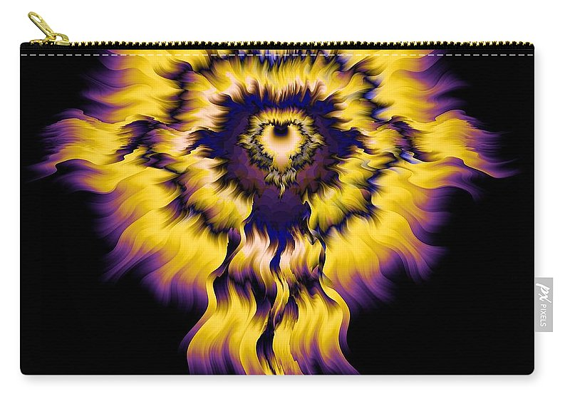 Julia Fire Carry-all Pouch featuring the digital art Julia Fire by Elizabeth McTaggart