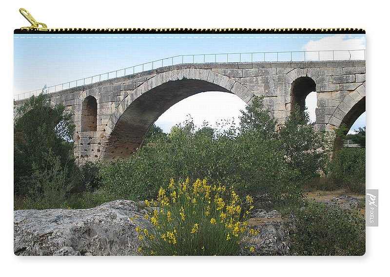 Roman Stonebridge Carry-all Pouch featuring the photograph Julian Bridge Provence by Christiane Schulze Art And Photography