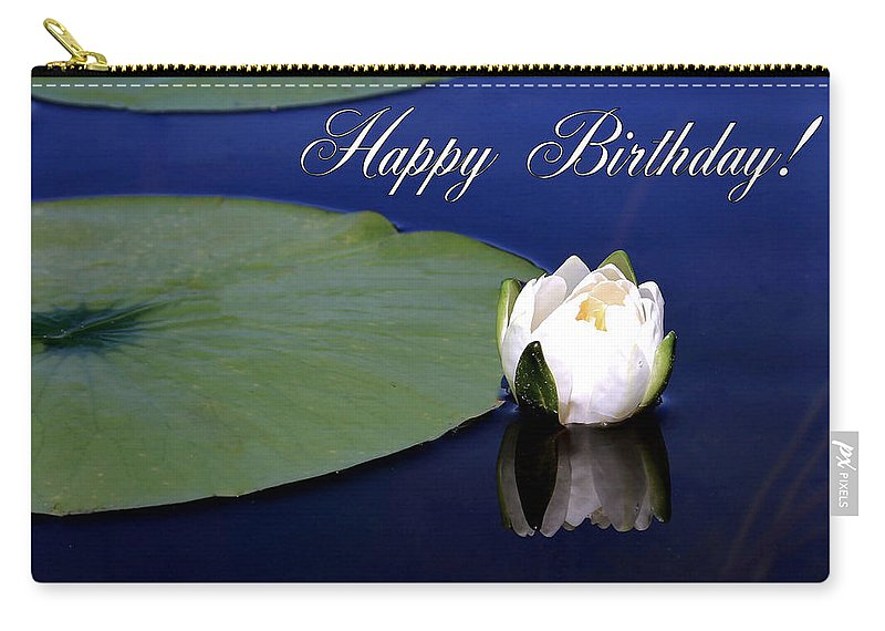 Happy Birthday Carry-all Pouch featuring the photograph July Birthday by Kristin Elmquist
