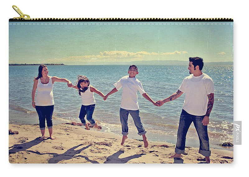 Alameda Beach Carry-all Pouch featuring the photograph Jump For Joy by Laurie Search