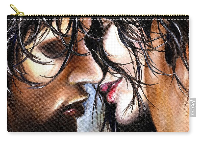 Lovers Carry-all Pouch featuring the painting June Breeze by Hiroko Sakai