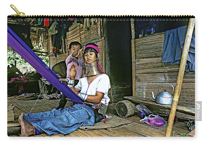 Thailand Carry-all Pouch featuring the photograph Jungle Crafts by Steve Harrington