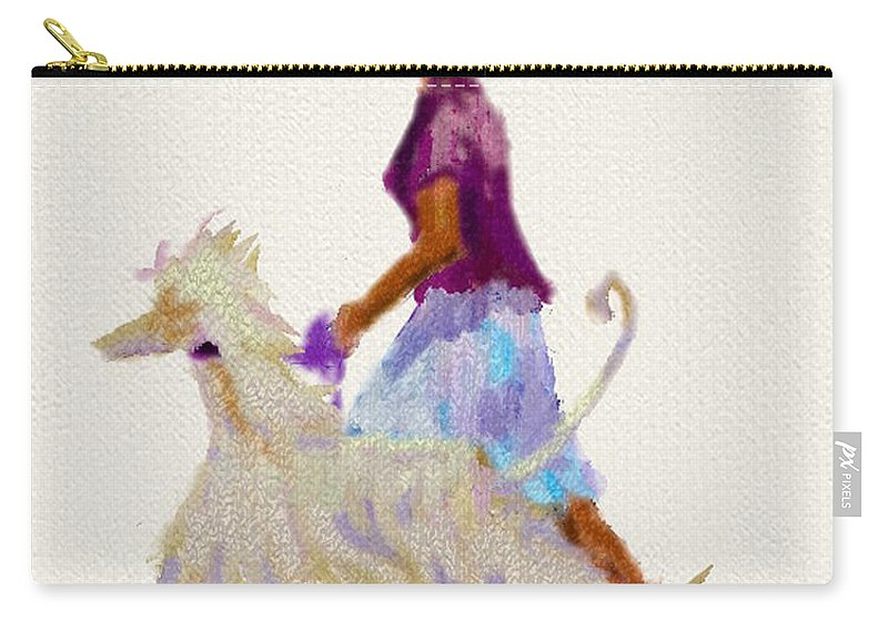 Ipad Design Carry-all Pouch featuring the painting Junior Design by Terry Chacon