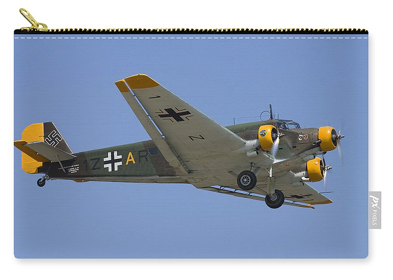 3scape Carry-all Pouch featuring the photograph Junkers Ju-52 by Adam Romanowicz