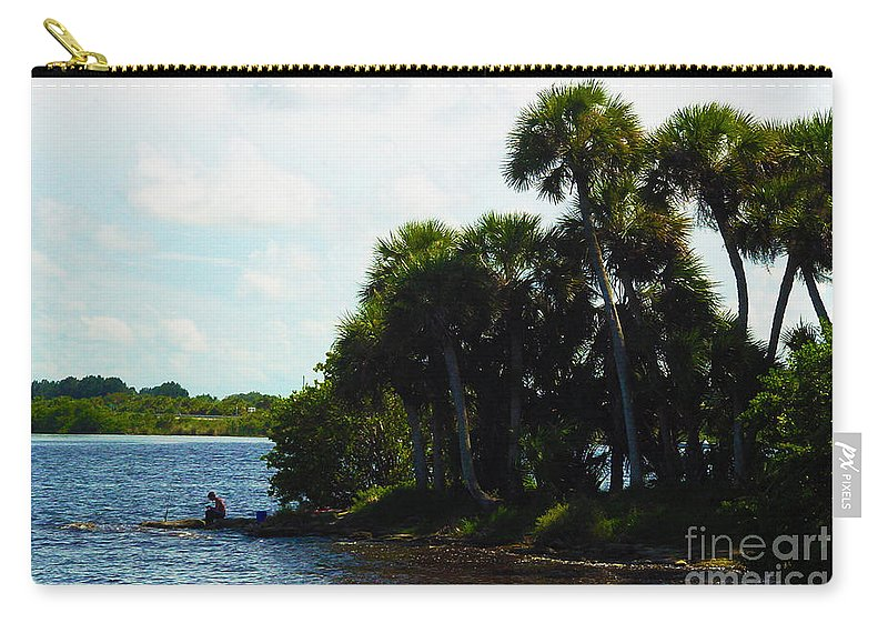 Landscape Carry-all Pouch featuring the photograph Jupiter Florida Shores by Susanne Van Hulst