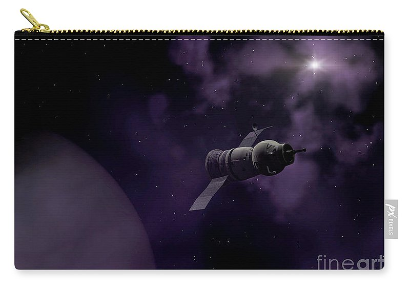 Space Carry-all Pouch featuring the digital art Jupitor One Exploration by Richard Rizzo