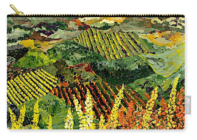 Landscape Carry-all Pouch featuring the painting Just A Little Valley by Allan P Friedlander