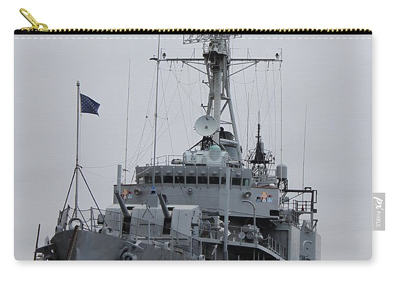 Gearing-class Destroyer Carry-all Pouch featuring the photograph Just Another Battleship Photo Of The Uss Joseph P Kennedy Jr by Jennifer E Doll